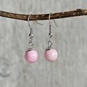 Simplicity - rózsaszín folyamkő fülbevaló, Ékszer, óra, Fülbevaló, Halvány rózsaszín folyamkő fülbevaló. Igazi alapdarab.  Kő mérete: 8 mm Fülbevaló hossza: 2 cm..., Meska
