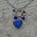 Békesség - lapis lazuli nyaklánc , Ez a kő gyorsan oldja a stresszt, mély békessé...