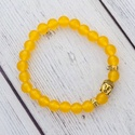 Buddha - sárga achát karkötő, Az achát stabilizáló és erősítő hatású, e...