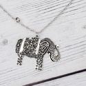 Burma - elefánt charm nyaklánc, Kínában az elefánt őshonos állat volt, melyet...