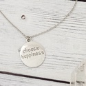 """Choose happiness - motiváló nyaklánc, Ékszer, Nyaklánc, """"A boldogság nem jelent gondtalanságot és szüntelen jókedvet, de azt igen, hogy gyorsan tudsz átlend..., Meska"""