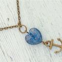 Kommunikáció - lapis lazuli nyaklánc , Ékszer, óra, Nyaklánc, Ez a kő gyorsan oldja a stresszt, mély békességet biztosít. Hatalmas nyugalom jellemző rá, és a kulc..., Meska