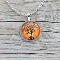 Narancssárga életfa medál , Ékszer, óra, Nyaklánc, Ősi szimbólum az életfa, amely a világ közepén helyezkedik el, és összeköti az égi és a földi szférá..., Meska