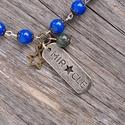 Miracle - sötétkék mountain jade nyaklánc, Ékszer, Nyaklánc, Sötétkék mountain jade-ból készült nyaklánc.  A torokcsakra elvezet saját belső valóságunkhoz, és sz..., Meska