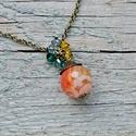 Életöröm - narancs achát nyaklánc, Ékszer, Nyaklánc, Az achát stabilizáló és erősítő hatású, elősegíti a belső egyensúlyt.  Az achát kő gyógyít, biztonsá..., Meska