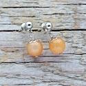 Szerencse - narancs aventurin fülbevaló, Ékszer, Fülbevaló, Az aventurin megerősíti a vezetői képességeket és a döntéshozatalt. Erősíti a könyörületet, valamint..., Meska