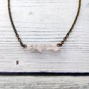 Minimal - rózsakvarc nyaklánc, Ékszer, Nyaklánc, A rózsakvarc a feltétel nélküli szeretet és a végtelen béke köve. Ez a legfontosabb kristály a szív ..., Meska