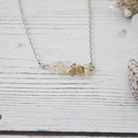 Minimal - rutilkvarc nyaklánc, Ékszer, Nyaklánc, A rutilkvarcot a kristályt átszövő finom aranyfonalak miatt angyalhajkvarcnak is nevezik. Ősidők óra..., Meska