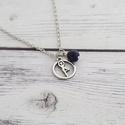 Jóga - nyaklánc jóga medállal és lapis lazuli-val, Nyaklánc jóga medállal és lapis lazuli-val.  E...