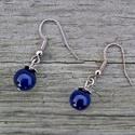 Simplicity - lapis lazuli fülbevaló, Egyszerű lapis lazuli fülbevaló 8 mm-es lapis l...