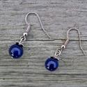 Simplicity - lapis lazuli fülbevaló, Ez a kő gyorsan oldja a stresszt, mély békessé...