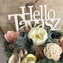 Hello tavasz feliratos, 8cm átmérőjű tálkában készített rózsaszín, kék, sárga asztali dekoráció!, Otthon & Lakás, Dekoráció, Csokor & Virágdísz, Mindenmás, Hello tavasz feliratos, 8cm átmérőjű tálkában készített rózsaszín, kék, sárga asztali dekoráció! Át..., Meska
