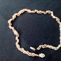 arany színű gyöngy nyaklánc, Ékszer, Nyaklánc, Gyöngyfűzés, Arany színű kásagyöngyből, és arany színű rizsgyöngyökből készítettem ezt a nyakláncot.  46 cm hoss..., Meska