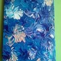 """Írisz mező Virág szirmok sorozat, Otthon, lakberendezés, Falikép, A """"Virág szirmok"""" sorozat egyik darabja.  Akril festékkel feszített vászonra készítettem e..., Meska"""