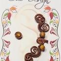 Antikolt vörösréz, nikkelmentes fülgyűrű jáspissal 24., Antikolt vörösréz, nikkelmentes fülgyűrű já...