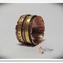 Antikolt vörös és sárgaréz gyűrű, Vörösrézből készítettem ezt a gyűrűt, mely...