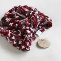 Kötött turbán őszi színekben, Ruha, divat, cipő, Ékszer, Kendő, sál, sapka, kesztyű, Sapka, Kézzel kötött téli turbán az ősz színeiben., Meska