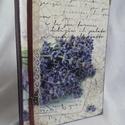 Levendulás napló, Naptár, képeslap, album, Jegyzetfüzet, napló, A5 méretű füzet a belső lapok 120 g-os elefántcsontszínű papírból készültek. 80 lapos (160 oldal). A..., Meska