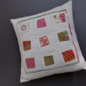 WINDOWS - patchwork párna, Imádom a táskák maradék anyagait rakosgatni, s...