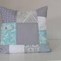 RELAX - patchwork párna, Dekoráció, Otthon, lakberendezés, Lakástextil, Párna, Textilesként fontosnak tartom, hogy olyan termékeket is készítsek, melyekkel valamelyest csökkentem ..., Meska