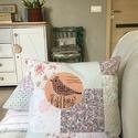 MADÁRDAL - patchwork párna, Dekoráció, Otthon, lakberendezés, Lakástextil, Párna, Textilesként fontosnak tartom olyan termékek készítését, amivel csökkentem a világ szemétdombját, a ..., Meska