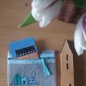 """Pénztárca, Táska, Pénztárca, tok, tárca, Pénztárca, 10X12 cm méretű gyapjúfilc pénztárcával bővül a """" DÁNIAMÁNIA"""" kollekció. A színes kis házak variáció..., Meska"""