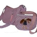 Anya-lánya pöttyös táska