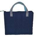 Kézzel kötött laptop-táska kék