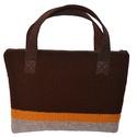 Kézzel kötött laptop-táska barna-szürke