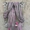 Sejtelmes rózsaszín, Otthon & lakás, Dekoráció, Kép, Lakberendezés, Falikép, Képzőművészet, Napi festmény, kép, Újrahasznosított alapanyagból készült termékek, Szobrászat, Ezt a gyönyörű, egyedi képet paverpol (textil szobrászat) technikával készítettem újrahasznosított ..., Meska