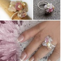 Rózsakvarc  gyűrű, Ékszer, Gyűrű,  Ez a rózsaszín különlegesség testi bajainkra gyógyírt jelenthet, mint a szívcsakra köve, a..., Meska