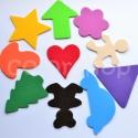 Játék a színekkel és formákkal - dekorgumi formák, Baba-mama-gyerek, Játék, Baba-mama kellék, Készségfejlesztő játék, Mindenmás, Egyszerű de nagyszerű kis játék a szivárvány színeiben (is).  Segít az apróságokkal gyakorolni a sz..., Meska