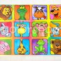 Állatkert, állatos tányéralátét A4, Baba-mama-gyerek, Otthon, lakberendezés, Konyhafelszerelés, Edényalátét, Fotó, grafika, rajz, illusztráció, Mindenmás, Sok sok állat, már majdnem állatkert: oroszlán, krokodil, boci, kutya, cica, zsiráf, majom, nyuszi,..., Meska