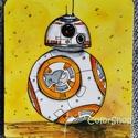 BB8 a robot (nagy)- laminált hűtőmágnes, Konyhafelszerelés, Baba-mama-gyerek, Férfiaknak, Hűtőmágnes, Fotó, grafika, rajz, illusztráció, Mindenmás, Star Wars rajongóknak...  BB8, az új film robot sztárja került erre a hűtőmágnesre. Szuper meglepet..., Meska