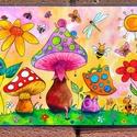 Tányéralátét A4- Tavaszi zsongás, Baba-mama-gyerek, Otthon, lakberendezés, Konyhafelszerelés, Edényalátét, Fotó, grafika, rajz, illusztráció, Mindenmás, Vidd be a vidámságot és a színeket a konyhába (meg ahova csak akarod :))  Ezen az alátéten színes g..., Meska