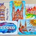 Szeged - hűtőmágnes készlet 5 db-os, Konyhafelszerelés, Magyar motívumokkal, Férfiaknak, Hűtőmágnes, Fotó, grafika, rajz, illusztráció, Mindenmás, 5 db Szegedhez kapcsolódó hűtőmágnest találsz ebben a készletben. (Bárhogy variálható. Kérhetsz 5 e..., Meska