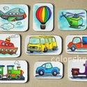 Járművek - hűtőmágnes készlet (9 db-os), Gyerek & játék, Otthon & lakás, Konyhafelszerelés, Hűtőmágnes, Játék, Végre a fiúknak is valami ;)  9 különböző jármű. A picik gyakorolhatják a neveiket, a színeket, mikö..., Meska