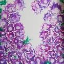 Szellőrózsa/Festmény/Fluid art/Anyák Napja, Művészet, Festmény, Festészet, Finom, hálós szerkezetű, lágy színekkel megfestett virágözön a lila és a pink szín árnyalataiban. M..., Meska