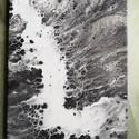 Zuhatag / Fluid art / Festmény, Művészet, Festmény, Akril, Festészet, Fekete-fehér, absztrakt, akrilfolyatásos technikával készült festmény. 30x40 cm, feszített vászon., Meska