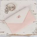 Pink panter - marhabőr táska, Táska, Válltáska, oldaltáska, Saját készítésű púder rózsaszín marha és juh bőr boríték táska. Hordható clutch-ként és cross body t..., Meska
