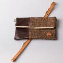 Chocolate brownie - bőr és textil táska, Táska, Válltáska, oldaltáska, Saját készítésű őszi válltáskám gyönyörű bőrrel és szövettel kombinálva. A táska jól pakolható, az a..., Meska