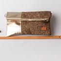 Shining fall - bőr és textil táska, Táska, Válltáska, oldaltáska, Saját készítésű őszi válltáskám gyönyörű bőrrel és szövettel kombinálva. A táska jól pakolható, az a..., Meska