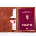 Útlevéltok bőrből - brown textured, Táska, Pénztárca, tok, tárca, Szeretsz igényesen utazni? Válassz a bőr útlevél tartóim közül. Praktikus és tartós, finom tapintáss..., Meska