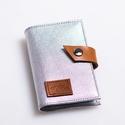 Silver classic -  bankkártya tartó, Táska, Pénztárca, tok, tárca, Pénztárca, Erszény, Bőrművesség, Varrás, Design:   Stílusos és csajos bankkártya tartót készítettem puha tapintású kecskebőrből. 12 részes m..., Meska
