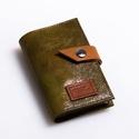 Shiny greens - bankkártya tartó, Táska, Pénztárca, tok, tárca, Pénztárca, Erszény, Design:   Stílusos bankkártya tartót készítettem puha tapintású kecskebőrből. 12 részes műanyag kárt..., Meska