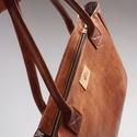 Vintage brown - marhabőr shopper, Táska, Válltáska, oldaltáska, Bőrművesség, Varrás, Hatalmas pakolós táska erős marhabőrből. Pakolhatod, hordozhatod. :) Minden belefér, ami csak kellh..., Meska
