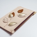 Golden leaf case - bőr tok