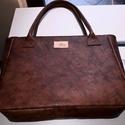 Vintage dark brown - marhabőr shopper, Táska, Válltáska, oldaltáska, Hatalmas pakolós táska kiváló minőségű jak bőrből. Pakolhatod, hordozhatod. :) Minden belefér, ami c..., Meska