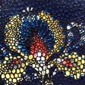 Vintage flowery -  bankkártya tartó, Táska, Pénztárca, tok, tárca, Pénztárca, Erszény, Design:   Stílusos, nőies bankkártya tartót varrtam erős, mégis nagyon finom tapintású kecskebőrből...., Meska