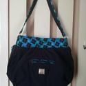Női táska zafir, Táska & Tok, Kézitáska & válltáska, Varrás, Ha szeretsz elegáns, de mégis jól pakolható táskával dolgozni járni, válaszd ezt a fazont. Funkció ..., Meska